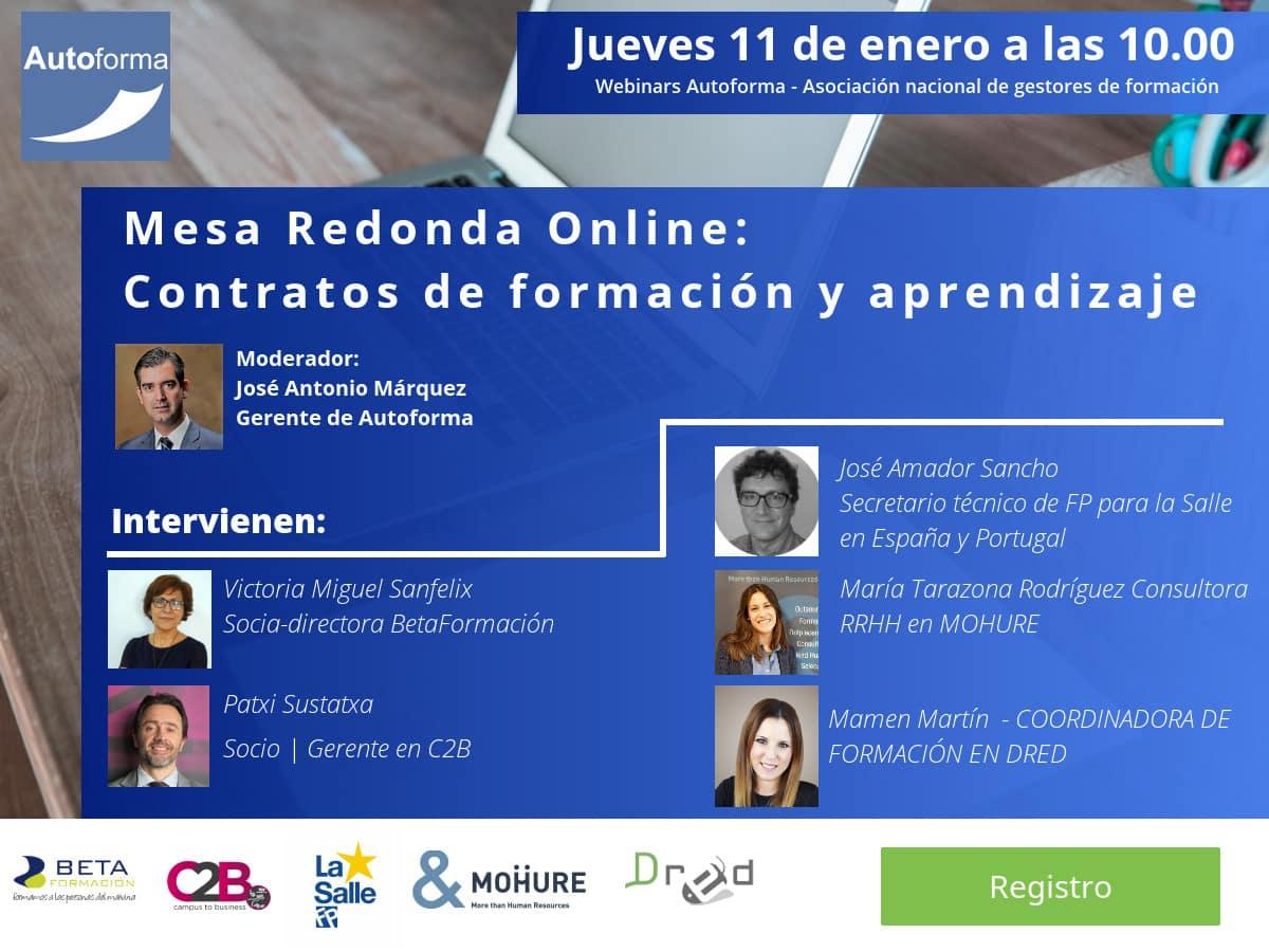 Mesa redonda online: contratos de formación y aprendizaje