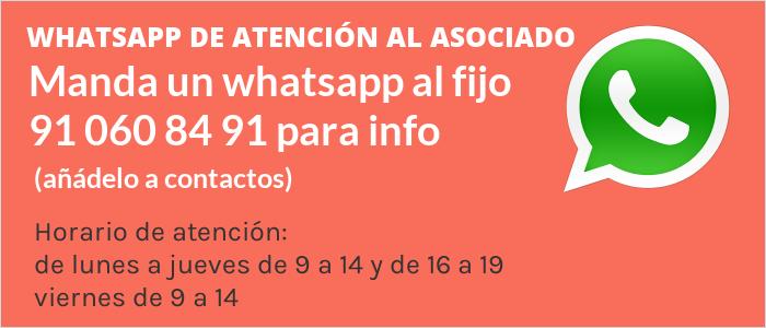 Información vía WhatsApp