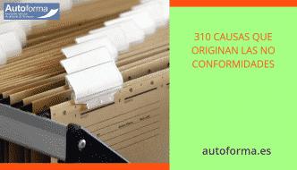 310 causas que originan las no conformidades