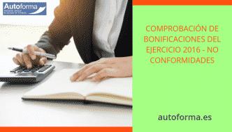 Mensaje de Fundae: Comprobación de bonificaciones del ejercicio 2016 – No conformidades