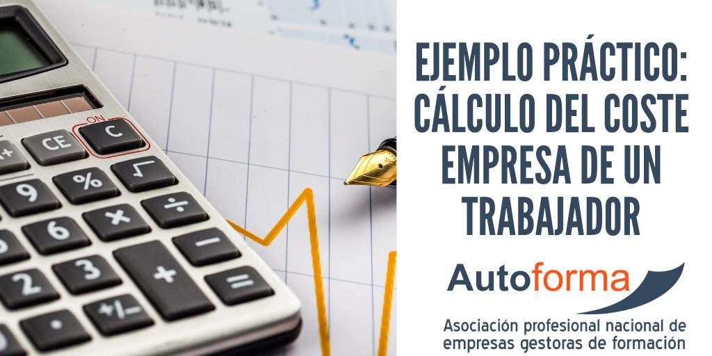 Ejemplo práctico: Cálculo del coste empresa de un trabajador