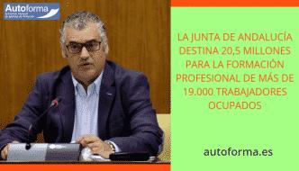La Junta de Andalucía destina 20,5 millones para la Formación Profesional de más de 19.000 trabajadores ocupados