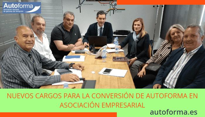 Nuevos cargos para la conversión de Autoforma en Asociación Empresarial