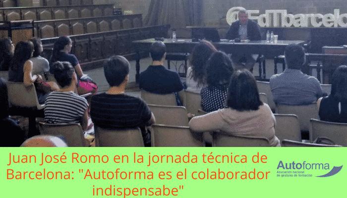 """Ayer en la Jornada de Barcelona, Juan José Romo: """"Autoforma: colaborador indispensable"""""""