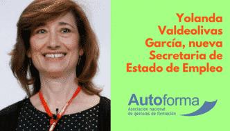 Yolanda Valdeolivas García, nueva Secretaria de Estado de Empleo