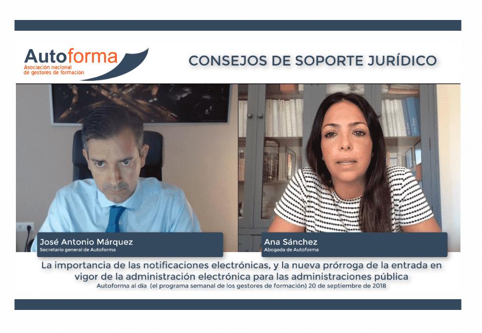 Consejos jurídicos para gestores de formación de Ana Sánchez (abogada de Autoforma)
