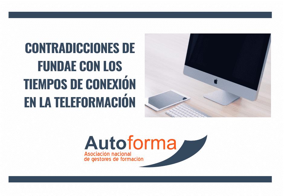 Contradicciones de FUNDAE con los tiempos de conexión en la teleformación