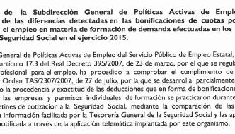 Llegan los primeros requerimientos con la firma de la nueva subdirectora general de políticas activas de empleo