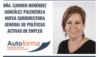 Dña. Carmen Menéndez González-Palenzuela nueva Subdirectora General de Políticas Activas de Empleo