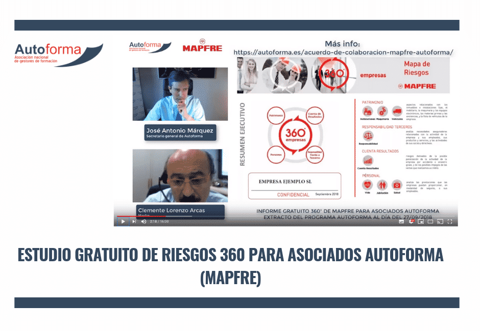 Estudio gratuito de riesgos 360 para asociados Autoforma (Mapfre)