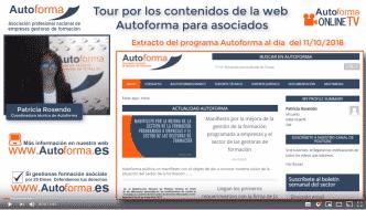 Tour por los contenidos para asociados en la web de Autoforma