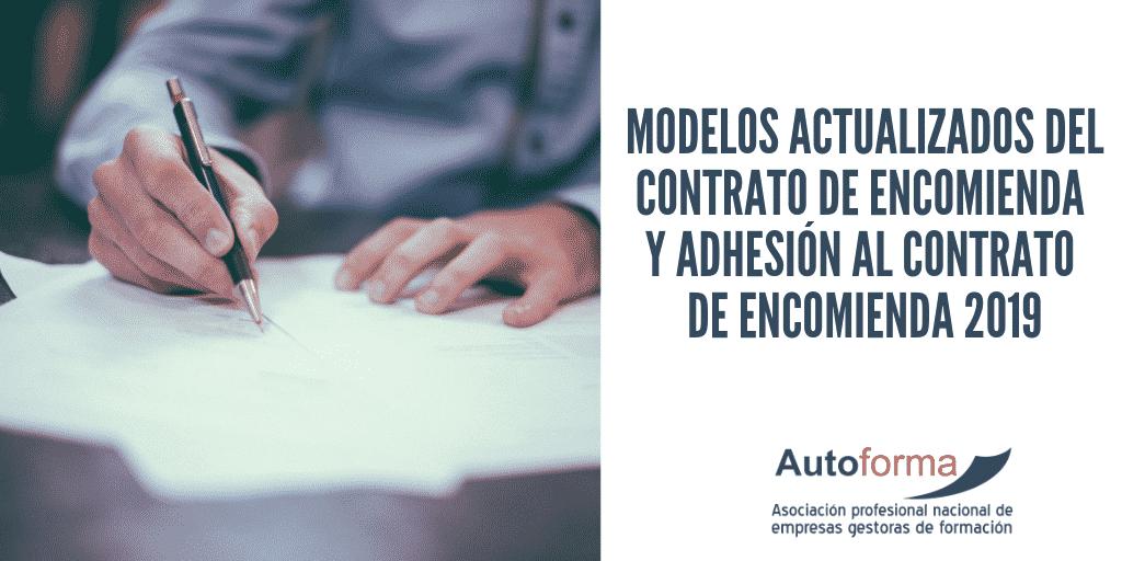 Modelos actualizados del contrato de encomienda y adhesión al contrato de encomienda 2019