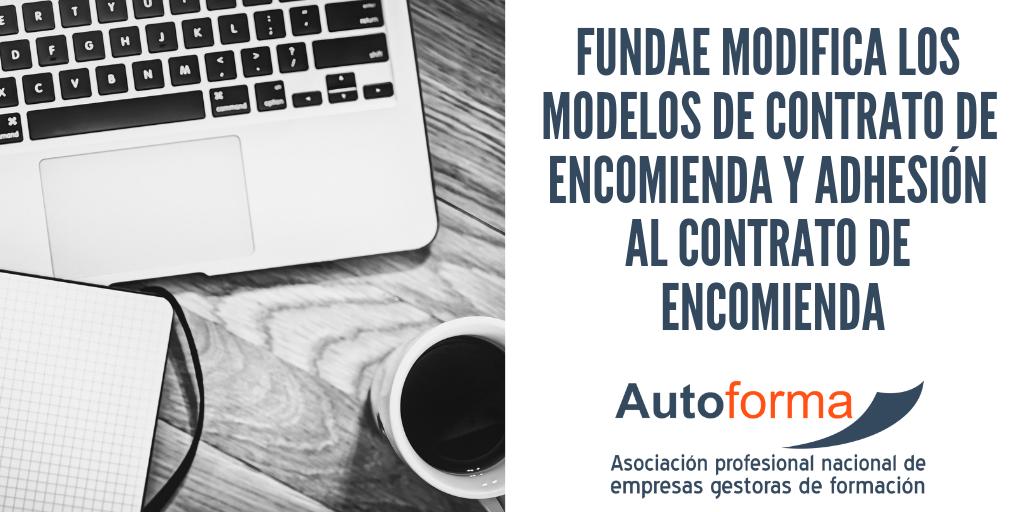 FUNDAE modifica los modelos de contrato de encomienda y adhesión al contrato de encomienda
