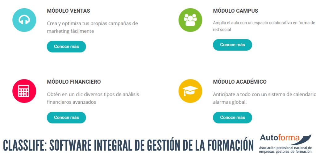 Classlife: Software integral de gestión de la formación