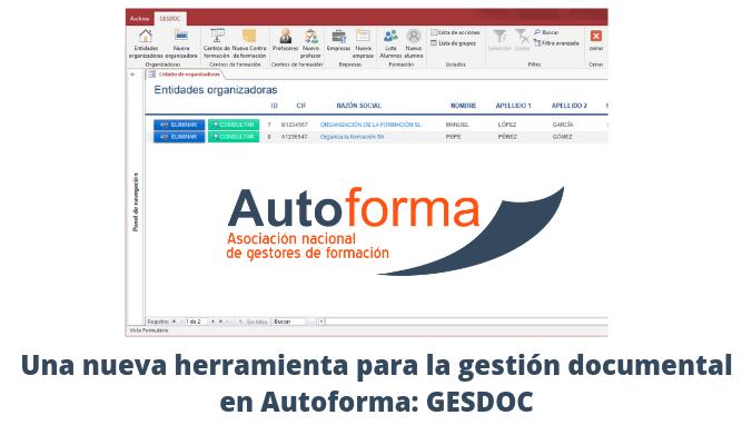Una nueva herramienta para la gestión documental en Autoforma: GESDOC