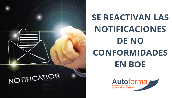 Se reactivan los notificaciones de no conformidades en BOE