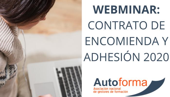 Webminar: contrato de encomienda y adhesión 2020