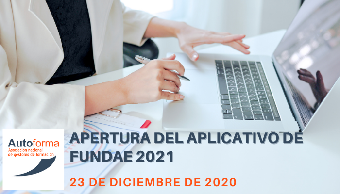 Apertura del aplicativo de FUNDAE 2021